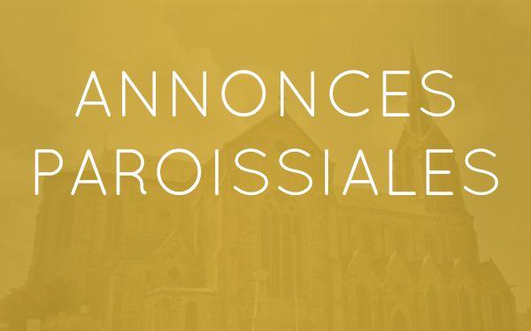 Annonces paroissiales – Semaine du 6 au 12 mars 2021
