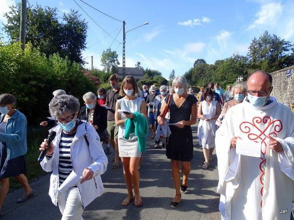 Célébration du 15 aout à Langrolay