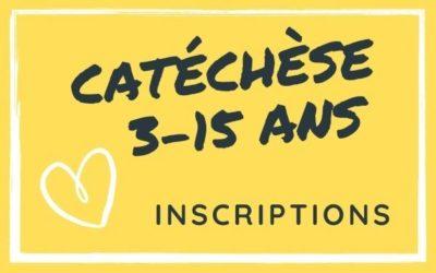 Inscriptions catéchèse 3-15 ans