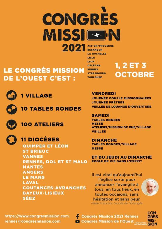Affiche congrès mission Rennes